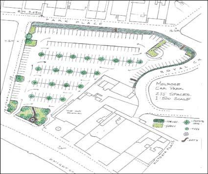 Melrose car park sketch  Weston Town Centre Area Action Plan Preferred  Options Document. Car Park Design Layout
