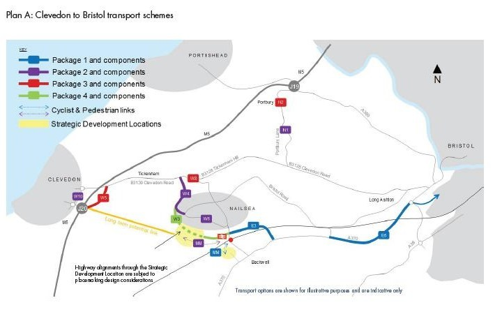 Plan A Clevedon to Bristol transport schemes