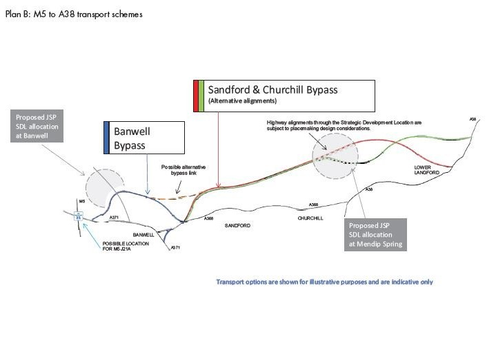 Plan B M5 to A38 transport schemes